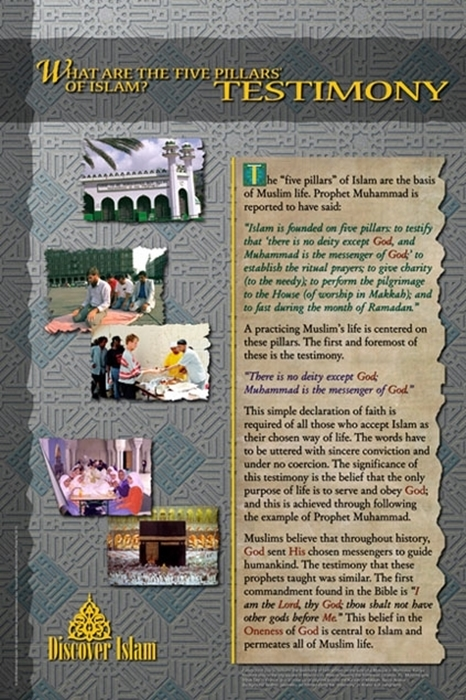 What are the five pillars of Islam? Testimony